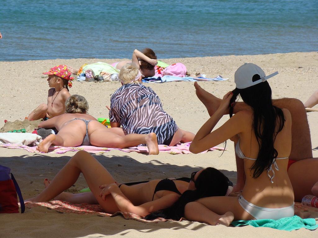 Фото красивых девушек на пляже в анапе