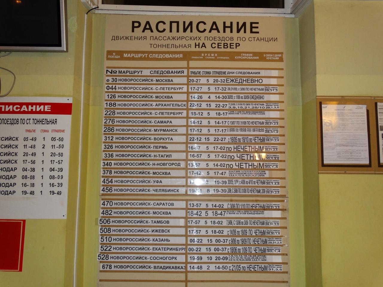 автобусы тоннельная анапа расписание